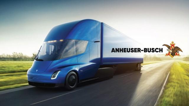 Công ty này vừa đặt mua 40 chiếc xe tải điện của Tesla về để chở bia - Ảnh 1.