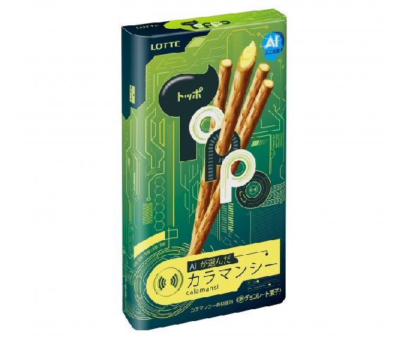 Đặt niềm tin vào AI, Lotte Nhật Bản cho ra đời loại bánh que lạ đời chưa từng thấy: Sô cô la vị quất - Ảnh 1.