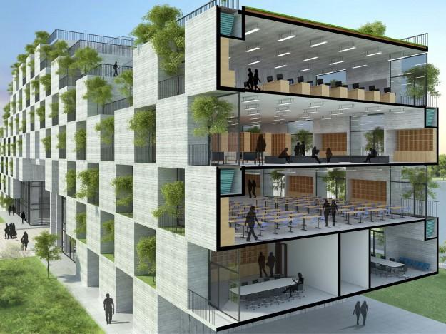Đại học FPT do Võ Trọng Nghĩa Architects thiết kế lọt Top 10 công trình giáo dục tiêu biểu năm 2017 - Ảnh 13.