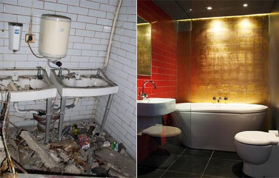 """Góc nhà vệ sinh đầy rác rưởi ngày nào giờ đây """"biến hình"""" thành phòng tắm cực kỳ sang trọng"""