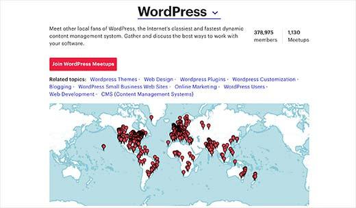 WordPress Meetup diễn ra ở 58 nước