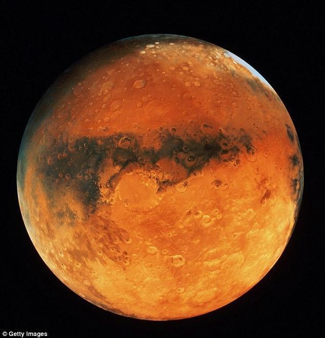 Hành tinh Đỏ - nơi có khí hậu tương đối khắc nghiệt.