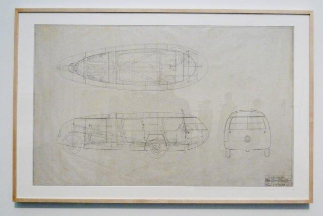 Những ý niệm và phác thảo đầu tiên của chiếc xe vào năm 1933 của Fuller