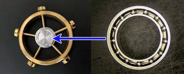 Vòng bi bằng nhôm siêu nhẹ được sử dụng trong công nghiệp vụ trụ, thì nay dùng để tạo nên fidget spinner