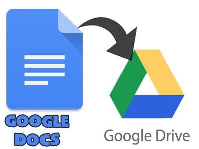 Google Docs được tích hợp sẵn Google Drive cho việc lưu trữ.