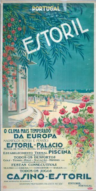 Tấm poster cũ của casino Estoril.