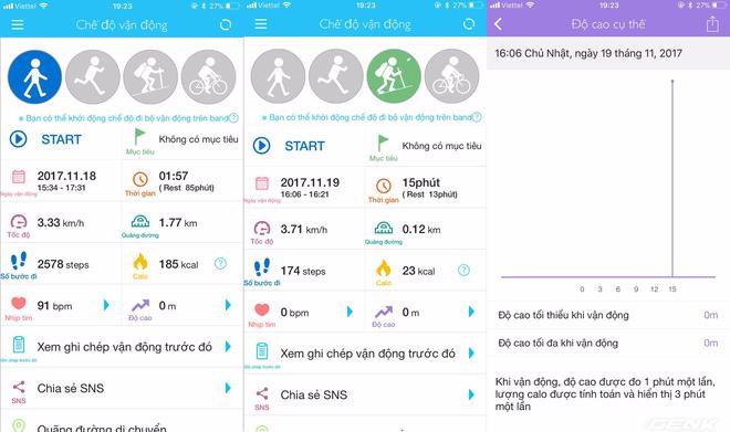 URBAN S+ có thể đo tới 4 chỉ số vận động như đi bộ, chạy, leo núi và đạp xe