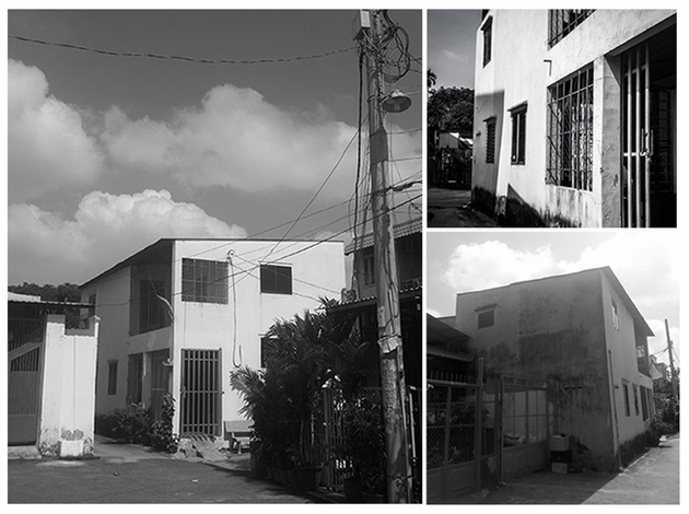 Hình ảnh của ngôi nhà trước khi được cải tạo. Ngôi nhà cấp 4, với diện tích khiêm tốn. Theo luật xây dựng hiện hành, nếu cải tạo lại căn nhà này, chủ nhà sẽ mất đi 1/3 diện tích đất ứng theo quy định lộ giới hẻm.