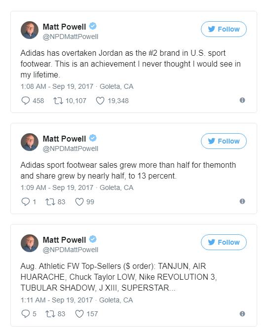Chuyên gia phân tích Matt Powell công bố kết quả này thông qua Twitter