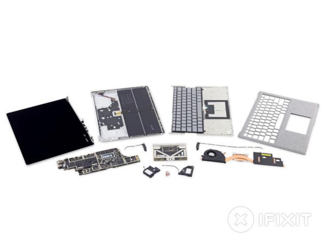 Toàn bộ linh kiện của Surface Laptop