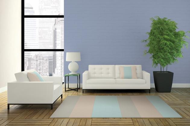 Hoặc sử dụng tối giản với trắng kem và màu trầm của sàn gỗ tự nhiên.