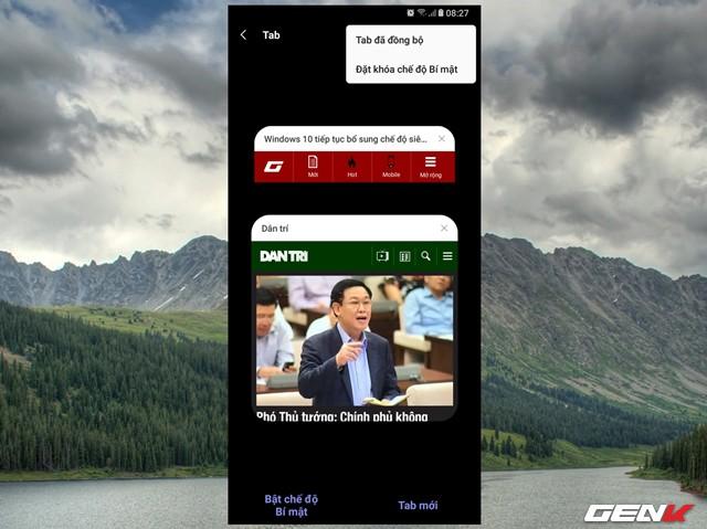 Dùng thử Samsung Internet Browser 9: Giao diện mới, chế độ nền tối, khóa chế độ bí mật - Ảnh 14.