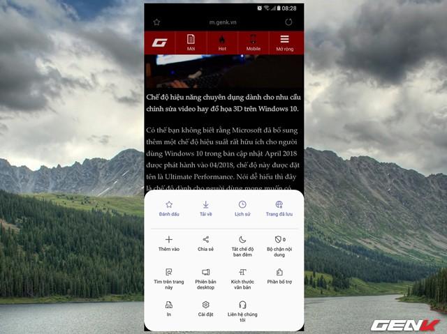 Dùng thử Samsung Internet Browser 9: Giao diện mới, chế độ nền tối, khóa chế độ bí mật - Ảnh 16.