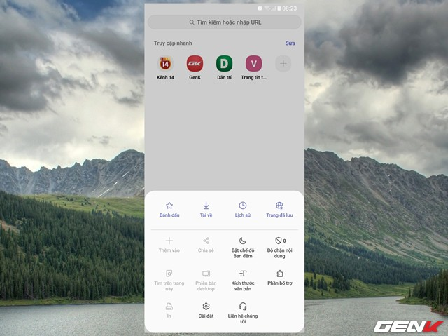 Dùng thử Samsung Internet Browser 9: Giao diện mới, chế độ nền tối, khóa chế độ bí mật - Ảnh 3.