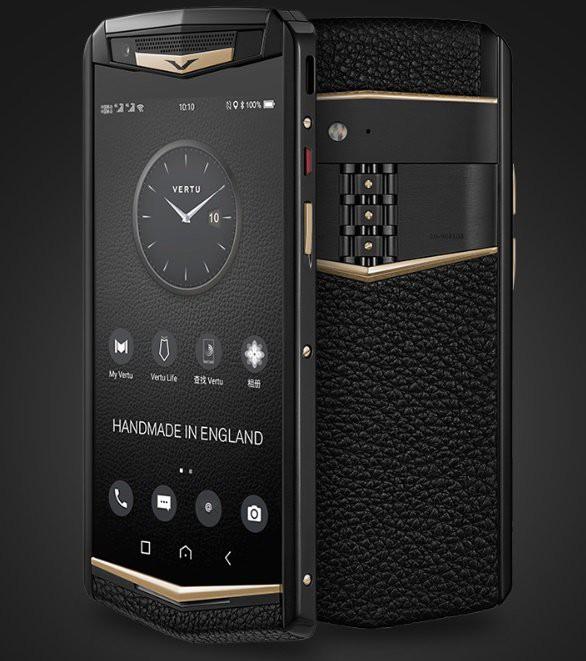 Vertu trình làng smartphone cao cấp Aster P, khung titan, màn hình sapphire, mặt lưng bằng da, Snapdragon 660, giá 5.000 USD - Ảnh 1.