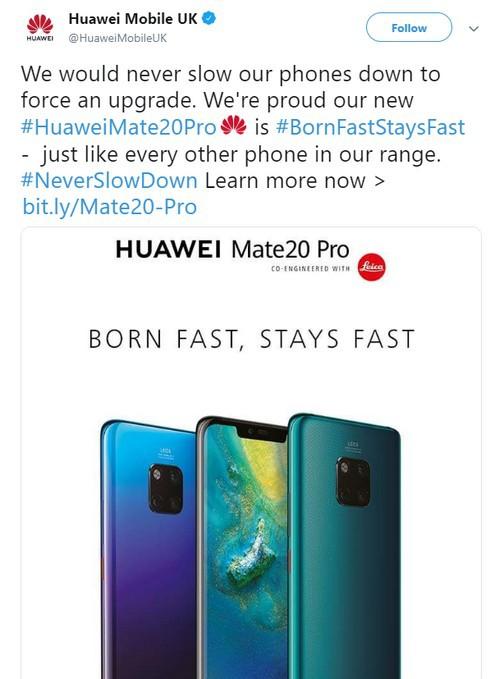 """Huawei troll Apple và Samsung thua kém về tốc độ: """"Huawei Mate 20 Pro sinh ra đã nhanh và sẽ luôn nhanh như thế"""" - Ảnh 2."""