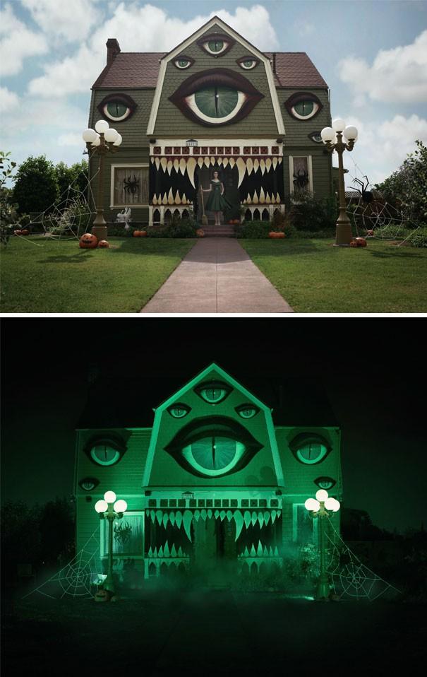 20 cách trang trí nhà cửa dịp Halloween khiến bọn trẻ phải khóc thét khi đến xin kẹo - Ảnh 1.