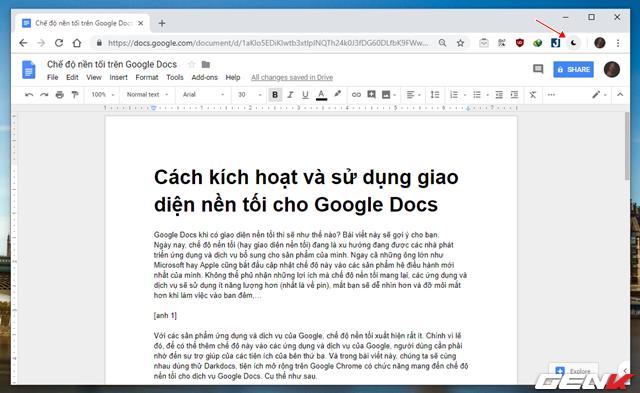 Kích hoạt giao diện nền tối màu cho Google Docs, không còn mỏi mắt khi gõ văn bản đêm - Ảnh 9.