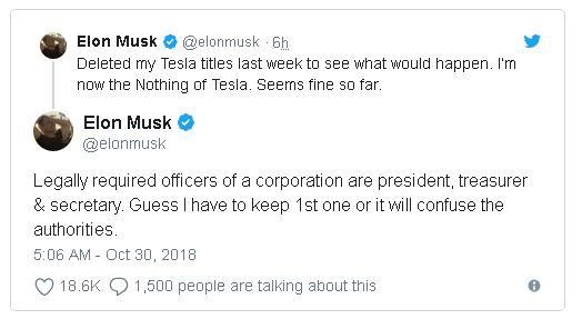 """CEO Elon Musk đã xóa bỏ chức danh của mình tại Tesla, nói rằng """"để xem chuyện gì sẽ xảy ra"""" - Ảnh 2."""