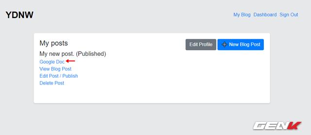 Hướng dẫn tự tạo trang Blog cá nhân với Google Docs mà không cần đến kiến thức về lập trình web - Ảnh 4.