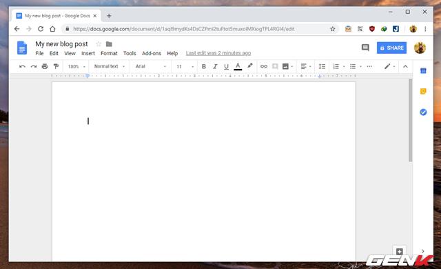 Hướng dẫn tự tạo trang Blog cá nhân với Google Docs mà không cần đến kiến thức về lập trình web - Ảnh 5.