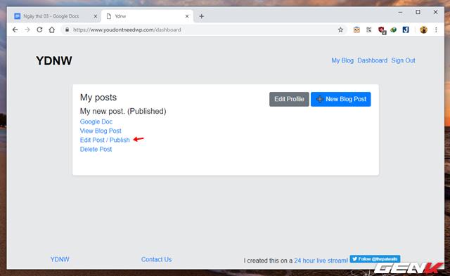 Hướng dẫn tự tạo trang Blog cá nhân với Google Docs mà không cần đến kiến thức về lập trình web - Ảnh 6.