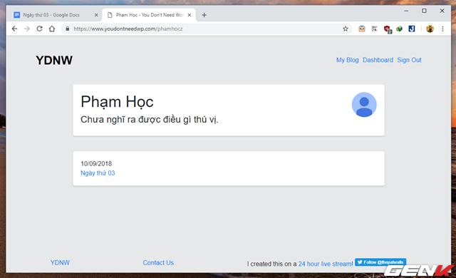 Hướng dẫn tự tạo trang Blog cá nhân với Google Docs mà không cần đến kiến thức về lập trình web - Ảnh 8.