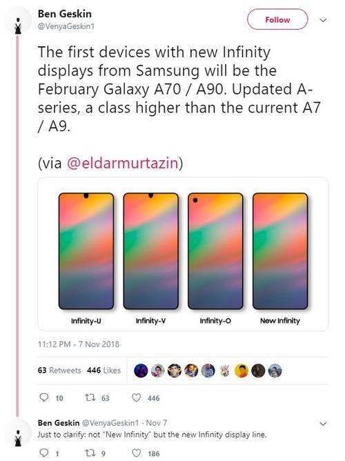 Galaxy S10 không phải là chiếc smartphone đầu tiên có màn hình nốt ruồi mà là Galaxy A70 và A90? - Ảnh 2.