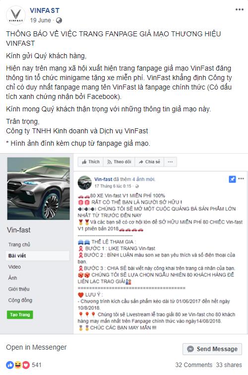 Sắp hết năm 2018 nhưng hàng nghìn dân mạng Việt vẫn bị lừa share fanpage để nhận xe Vinfast miễn phí - Ảnh 4.