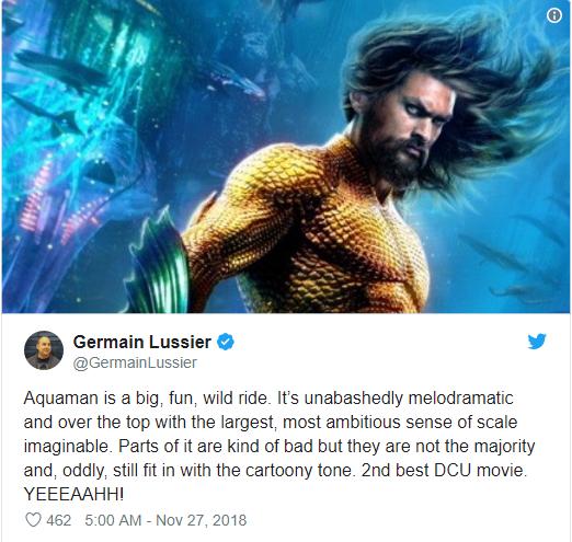 Aquaman được ca ngợi là bom tấn siêu anh hùng DC xuất sắc nhất từ trước tới nay - Ảnh 4.