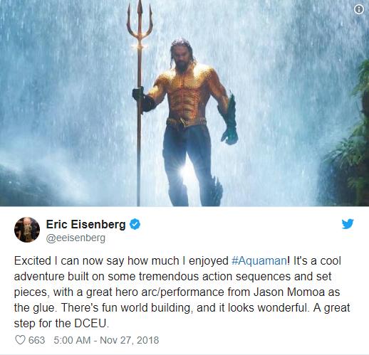 Aquaman được ca ngợi là bom tấn siêu anh hùng DC xuất sắc nhất từ trước tới nay - Ảnh 6.
