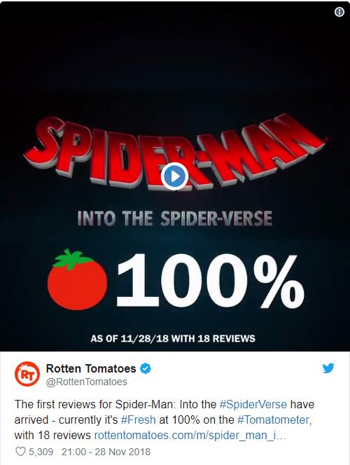 Đạt điểm tuyệt đối, Spider-Man: Into the Spider-Verse là phim Người Nhện hay nhất lịch sử - Ảnh 2.
