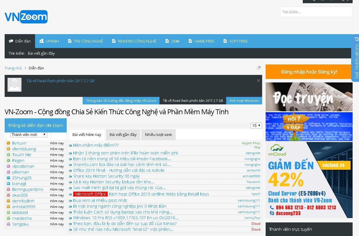Website diễn đàn công nghệ (5)