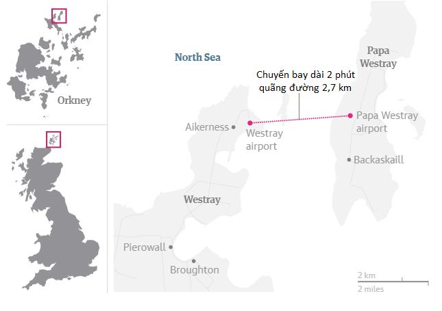 Chuyến bay ngắn nhất thế giới: 2,7 km, 53 giây là xong, mang hành lý lên chưa lau mồ hôi xong đã phải mang xuống - Ảnh 1.