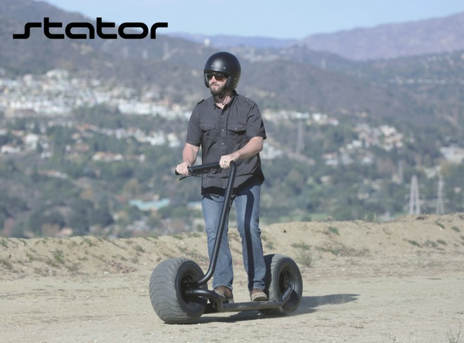 Stator: Mẫu xe điện hai bánh tự cân bằng, lốp to như lốp xe hơi, chỉ có một tay lái, tốc độ tối đa 40km/h - Ảnh 8.