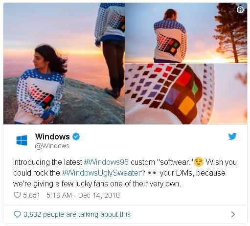 Microsoft ra mắt áo len in hình logo Windows 95 nhân dịp Giáng sinh - Ảnh 2.