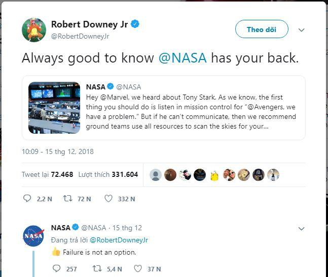 Robert Downey Jr và Marvel gửi lời cảm ơn NASA vì luôn sẵn sàng hỗ trợ giải cứu Iron Man - Ảnh 3.