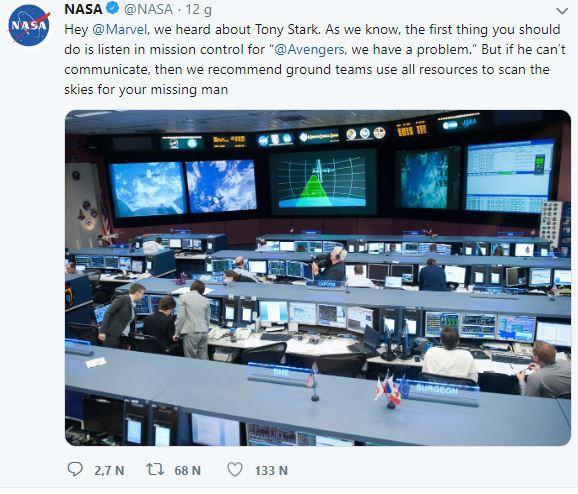 Robert Downey Jr và Marvel gửi lời cảm ơn NASA vì luôn sẵn sàng hỗ trợ giải cứu Iron Man - Ảnh 2.