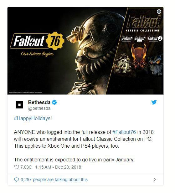 Xin lỗi game thủ vì bom xịt Fallout 76, Bethesda quyết định tặng miễn phí 100% Fallout Classic Collection - Ảnh 2.