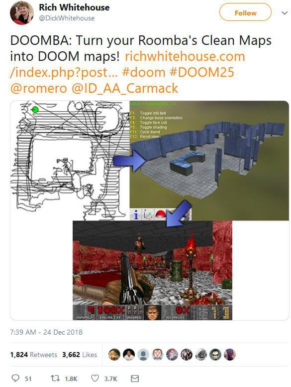 Phần mềm kỳ lạ có khả năng biến bản đồ số của robot hút bụi thành map game Doom - Ảnh 2.