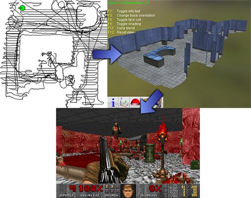 Phần mềm kỳ lạ có khả năng biến bản đồ số của robot hút bụi thành map game Doom - Ảnh 1.