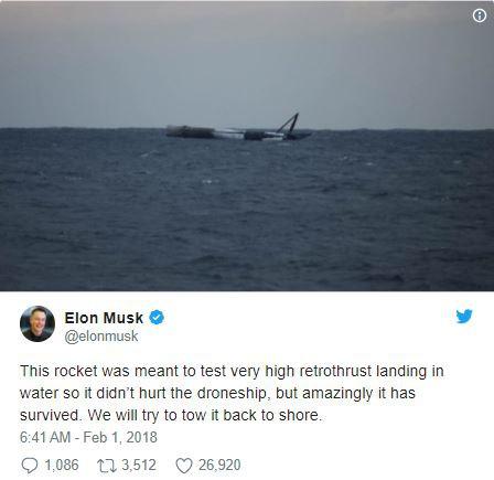 Elon Musk cho biết SpaceX cố tình đẩy Falcon 9 ra giữa biển nhằm phòng tránh rủi ro khi thử nghiệm công nghệ hạ cánh mới.