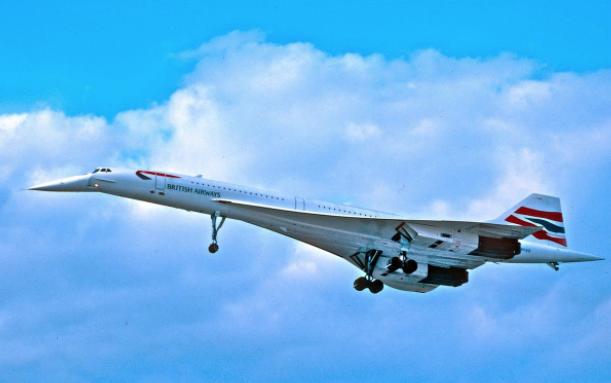 Chiếc Concorde đang cất cánh