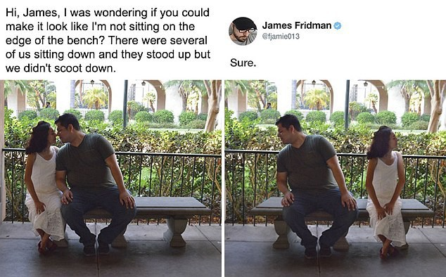 Hàng ngày photoshop chế ảnh người khác, anh chàng lại khiến nhiều người cảm động trước yêu cầu từ một cô gái bị bạn bè bắt nạt - Ảnh 3.