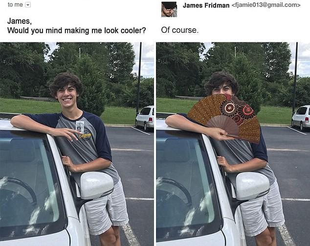 Hàng ngày photoshop chế ảnh người khác, anh chàng lại khiến nhiều người cảm động trước yêu cầu từ một cô gái bị bạn bè bắt nạt - Ảnh 4.