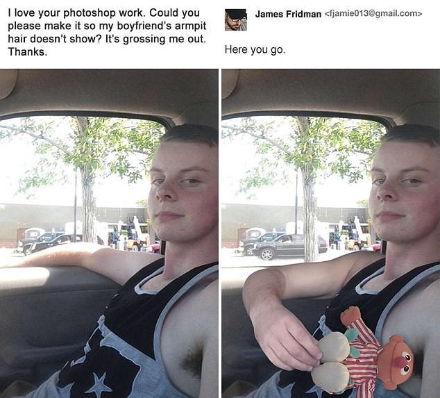 Hàng ngày photoshop chế ảnh người khác, anh chàng lại khiến nhiều người cảm động trước yêu cầu từ một cô gái bị bạn bè bắt nạt - Ảnh 5.