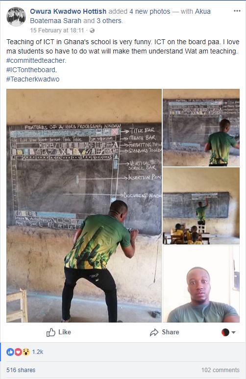 Cách giáo viên tin học ở Ghana vượt qua cảnh thiếu thốn cơ sở vật chất để giảng dạy khiến Internet xúc động - Ảnh 1.