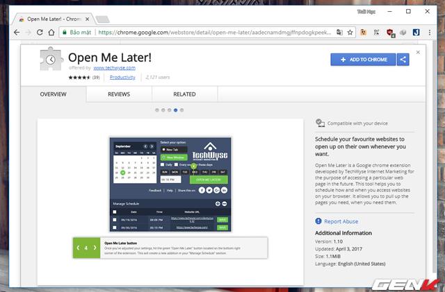 Lên lịch tự động mở trang web đã chỉ định trước trên Google Chrome bằng một add-on đơn giản - Ảnh 2.