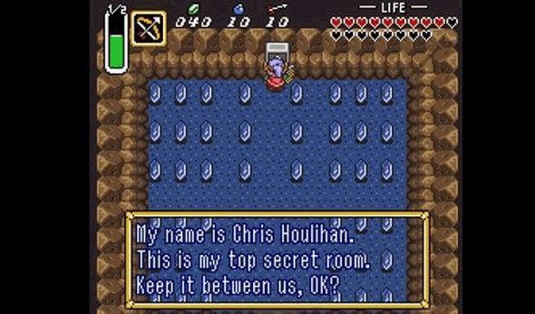 Căn phòng bí mật của Chris Houlihan trong tựa game Zelda huyền thoại đầu tiên của Nintendo