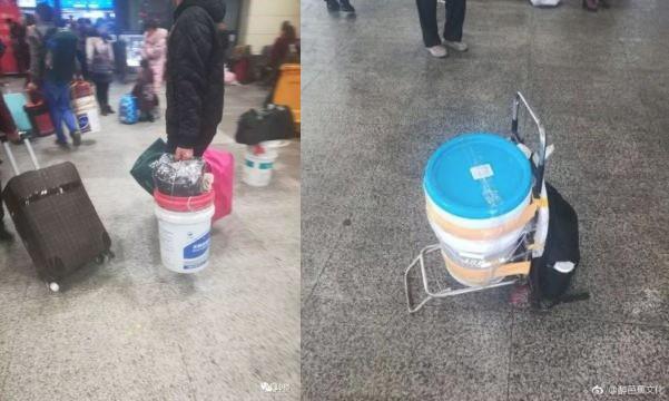 Dùng thùng sơn thay vali: Xu hướng hot nhất mùa Xuân vận 2018 tại Trung Quốc - Ảnh 5.